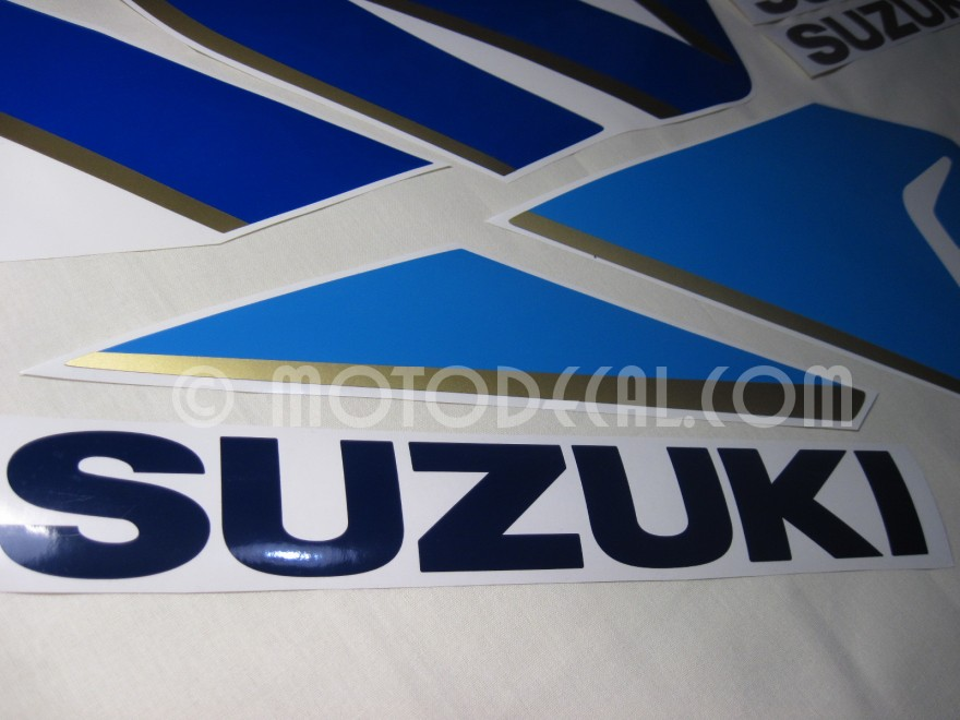 Suzuki gsx r 1100 1992 blue white decal kit