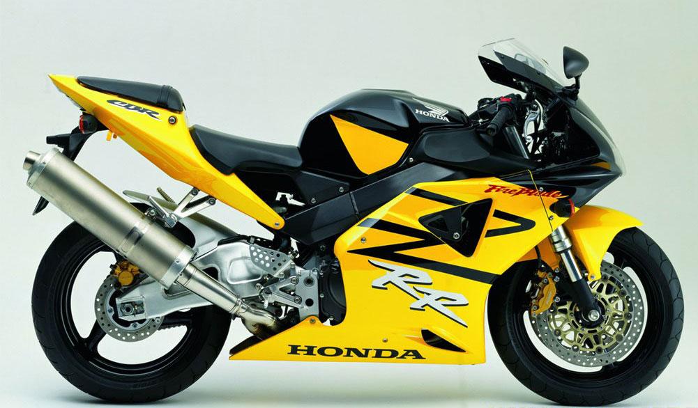 Honda CBR 954RR 2003 Yellow Black DECAL KIT by MOTODECAL.COM